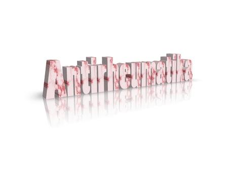 antirheumatic: antirheumatic 3d word