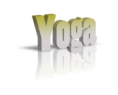 exersice: yoga 3d word Stock Photo