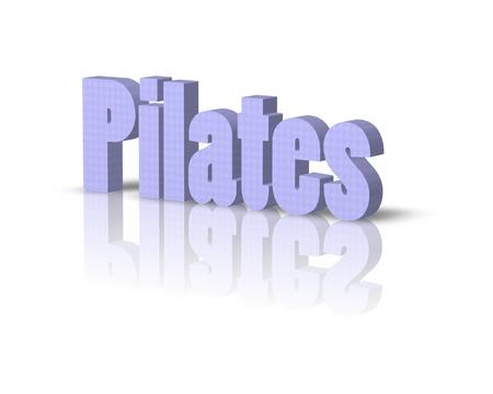exersice: pilates 3d word Stock Photo