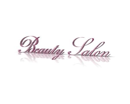 signos vitales: Salón de Belleza 3d palabra Foto de archivo