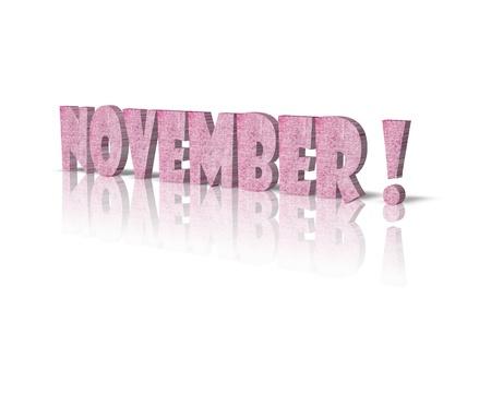 november 3d: November 3d word Stock Photo