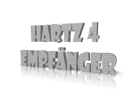 hartz 4: Hartz 4 3d word