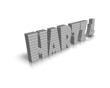 jobless: Hartz 4 3d word