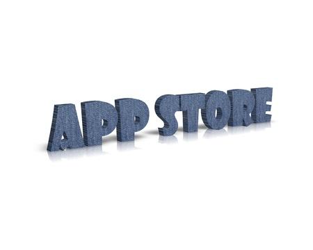 app store: App Store 3d word