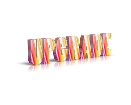 upgrade: 3d word upgrade