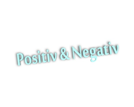 positive and negative: positive negative 3d word Stock Photo
