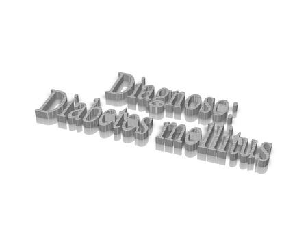mellitus: diabete mellito parola 3d