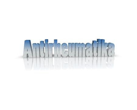 rheumatoid: rheumatoid 3d word Stock Photo