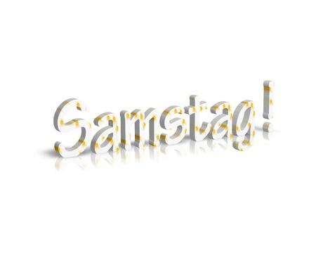 saturday: Saturday Saturday 3d word