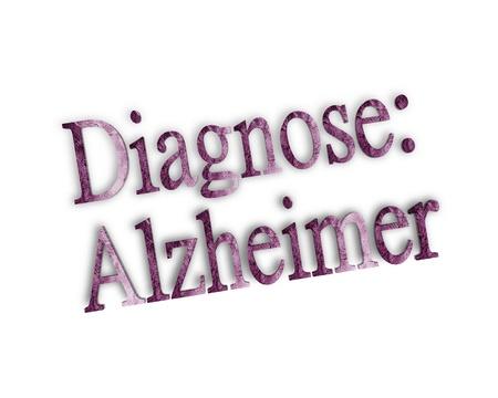 alzheimer 3d word Stock Photo