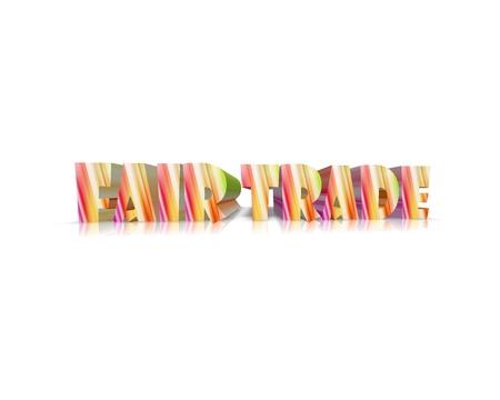 humane: Fairtrade 3d word Stock Photo