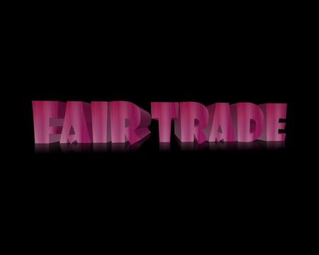 fairtrade: Fairtrade 3d word Stock Photo