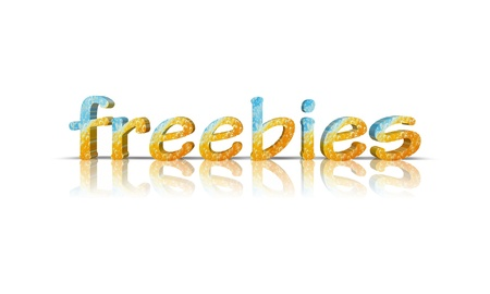 freebies 3d word