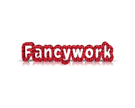 fancywork: fancywork 3d word