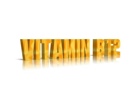 vitamina a: La vitamina B12 palabra 3D
