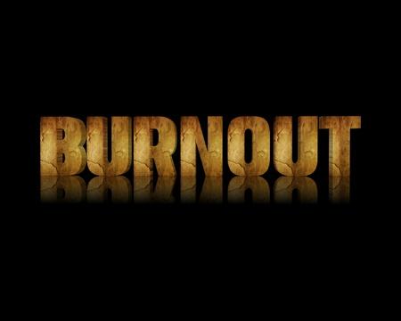 burnout: Burnout 3d word