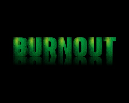 expressing negativity: Burnout 3d word