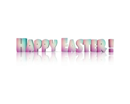 eastertime: happy easter 3d word