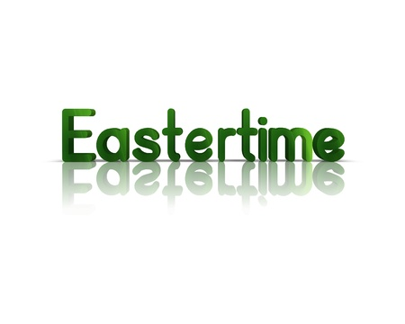 easteregg: eastertime 3d word