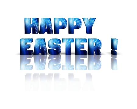 easteregg: Happy Easter 3d word