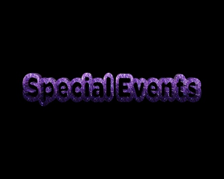special events: special events 3d word
