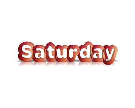 weekdays: Saturday 3d word Stock Photo