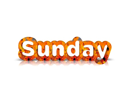 sunday: sunday 3d word
