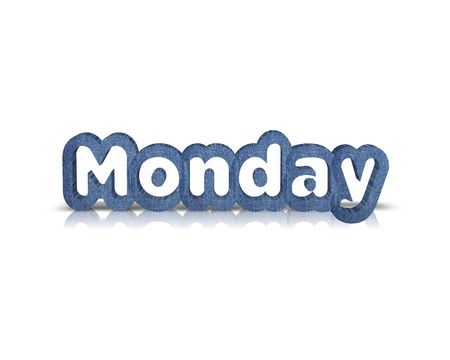 weekdays: monday 3d word Stock Photo
