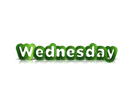 weekdays: Wednesday 3d word