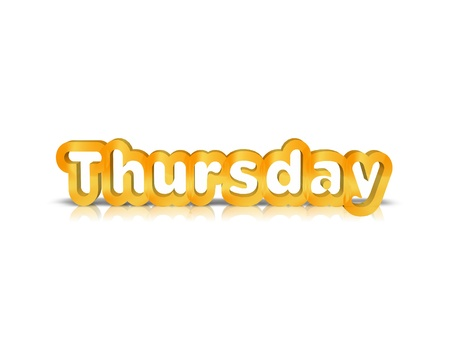thursday: Thursday 3d word