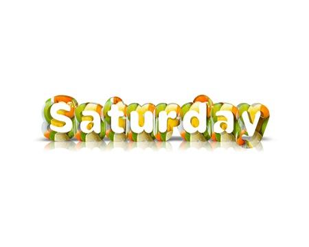 Saturday 3d word Фото со стока - 54283130