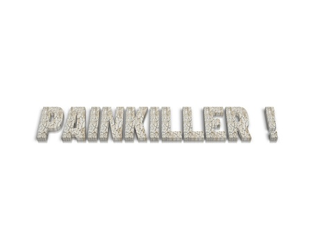 painkiller: painkiller 3d word Stock Photo