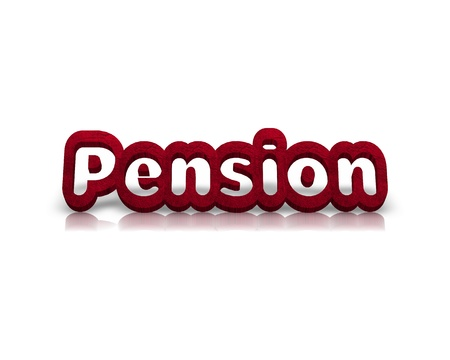 mobility nursing: Pension 3d word