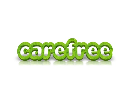 carefree: carefree 3d word Stock Photo