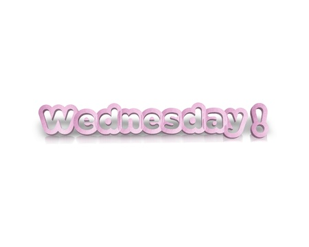 working week: Wednessday 3d word Stock Photo