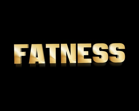 fatness: fatness 3d word