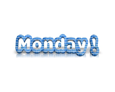 working week: monday 3d word Stock Photo