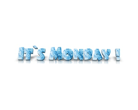 working week: it`s Monday 3d word Stock Photo