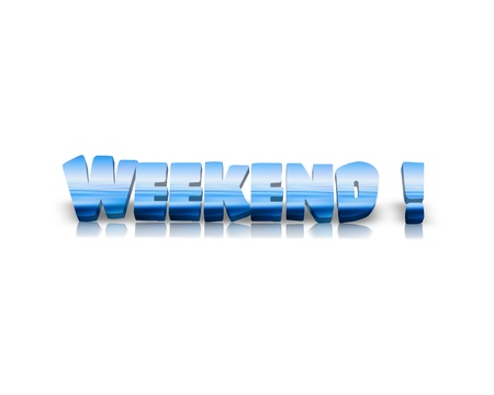 pursuits: Weekend 3d word Stock Photo