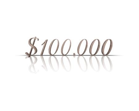 $ 100,000 3d word