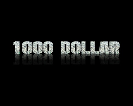 $ 1000 3d word
