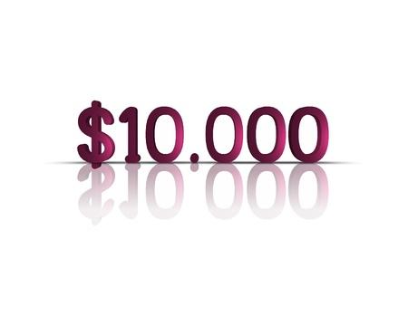 $ 10,000 3d word