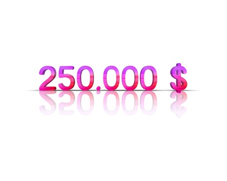 $ 250,000 3d word