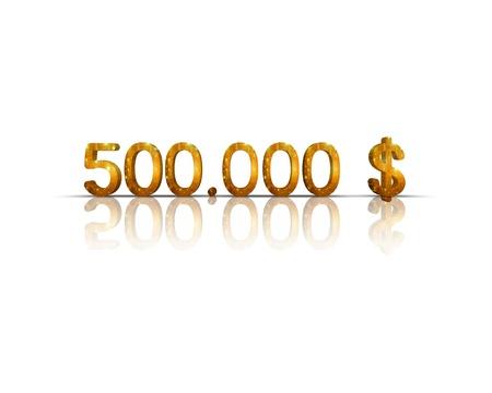 $ 500,000 3d word