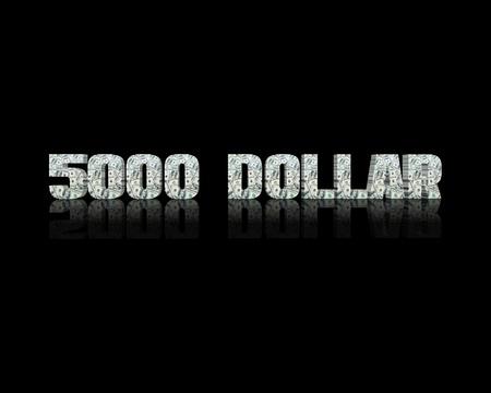 $ 5000 3d word