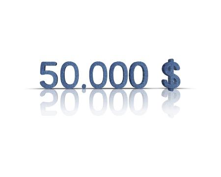 $ 50,000 3d word Stock Photo