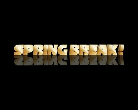 springbreak 3d word