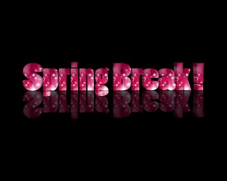 Spring Break 3d word Stock Photo