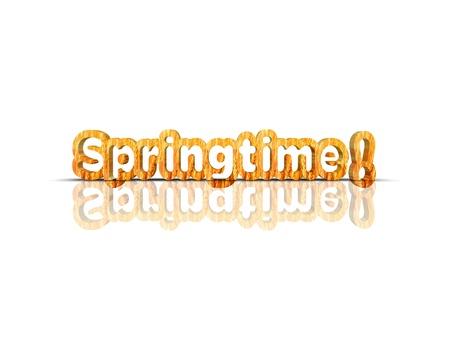 springtime 3d word Stock Photo