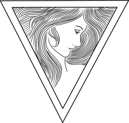Triangle lady vector Vector
